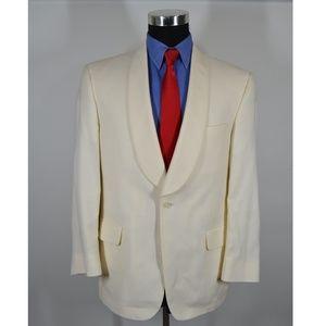 Jos A Bank 40S Tuxedo Jacket Cream Wool Size40 S